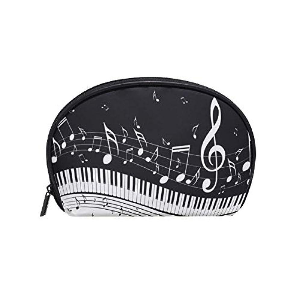 とまり木有利窒素化粧ポーチ 化粧ポッチ 音符柄 ピアノ柄 音楽柄 ブラック バニティーポーチ 化粧袋 収納バッグ トイレタリーバ 旅行出張用 洗面用具 小物入れ