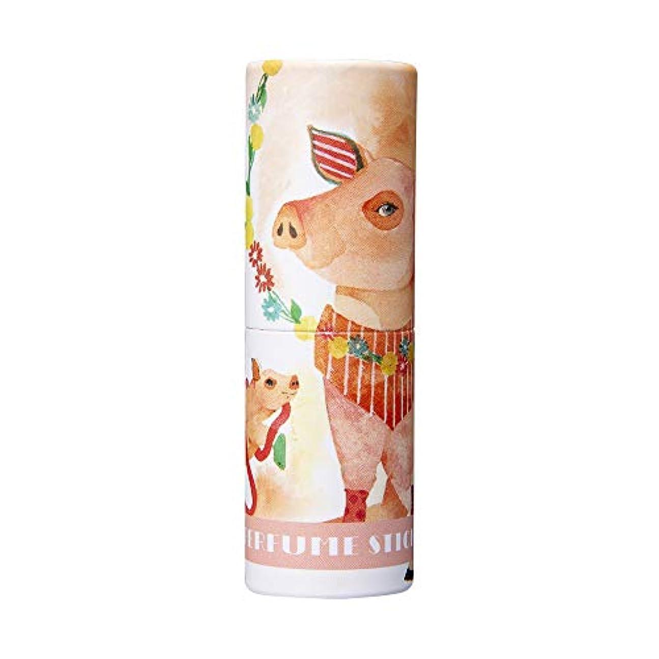 モールス信号絶滅した性別パフュームスティック ハッピー アップル&ローズの香り CatoFriendデザイン 5g