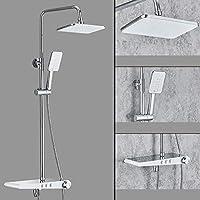バスルームシャワーシステムシャワーセットウォールマウントと8インチシャワーヘッド調整可能なスライドバー,1082
