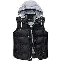 Wantdo Men's Winter Removable Hooded Cotton Vest Outwear