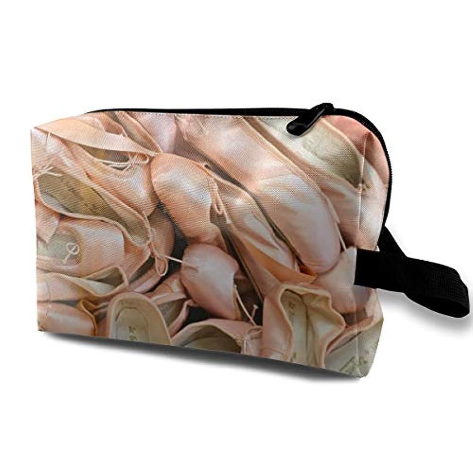 放送タック火Lepetto Ballet Shoes 収納ポーチ 化粧ポーチ 大容量 軽量 耐久性 ハンドル付持ち運び便利。入れ 自宅?出張?旅行?アウトドア撮影などに対応。メンズ レディース トラベルグッズ