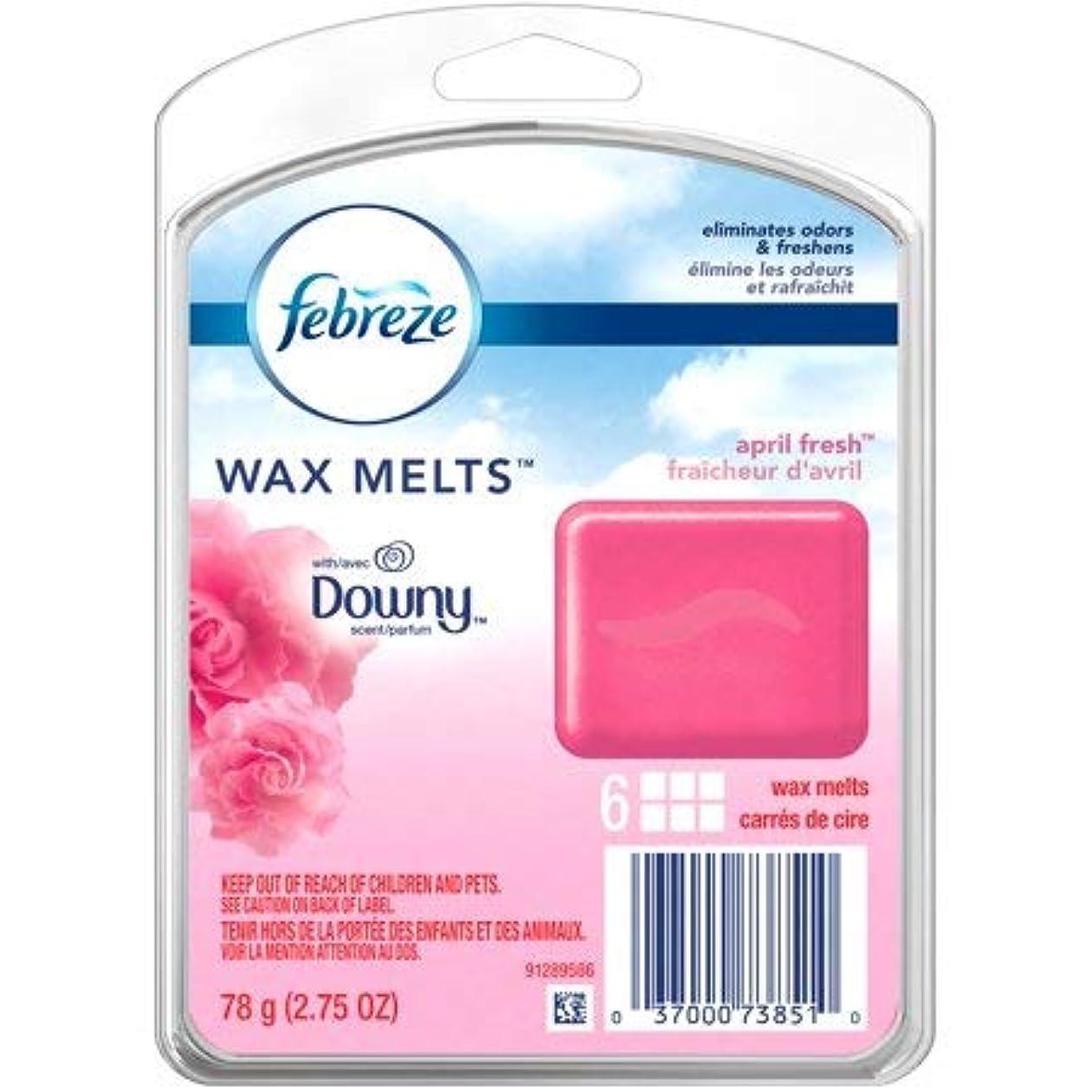 【Febreze/ファブリーズ】 ワックスメルト ダウニーエイプリルフレッシュ 6個入り Wax Melts Downy April Fresh Air Freshener (78 g / 2.75 oz)
