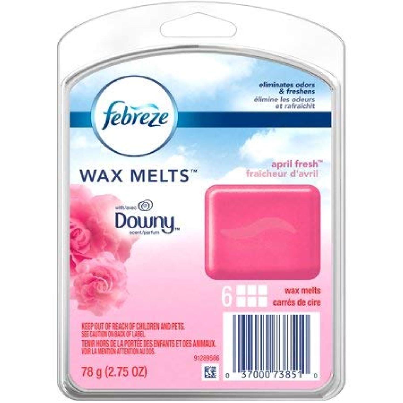 望遠鏡オフ維持する【Febreze/ファブリーズ】 ワックスメルト ダウニーエイプリルフレッシュ 6個入り Wax Melts Downy April Fresh Air Freshener (78 g / 2.75 oz)
