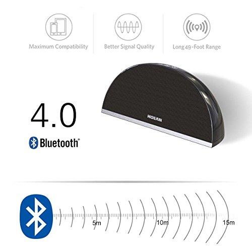Holan Bluetooth スピーカー 4.0 20W低音強化  マイク搭載  据え置き型 ワイヤレススピーカー 黒
