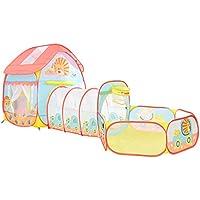 子供の遊びのテントトンネル赤ちゃん遊び家屋内遊園地簡単な折り畳みクロール (Color : Pink, Size : 90 * 90 * 105cm)