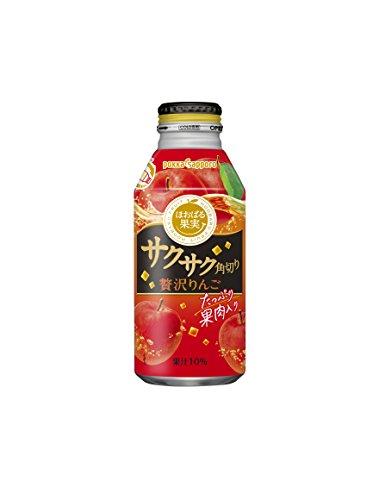 ポッカサッポロ サクサク角切り贅沢りんご 400g 1箱(24缶)
