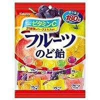 カバヤ フルーツのど飴 180g×10袋入×(2ケース)