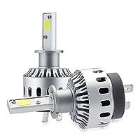 zodoo LEDヘッドライト H3 ワンタッチ取付 切替タイプ 高品質COBチップ搭載 6000Lm ホワイト 6500K 2個セット Z7PH3