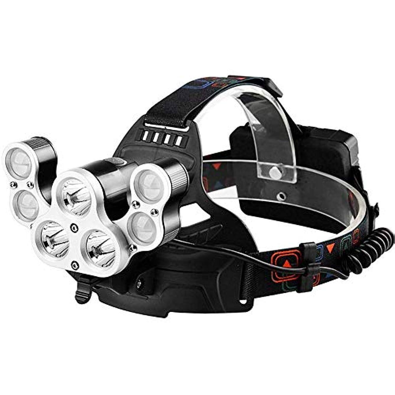 リーク通信するティーンエイジャー屋外の強いヘッドライト充電式ライト超高輝度ヘッドマウント多機能懐中電灯ledナイトフィッシングライトダイス鉱夫のランプ