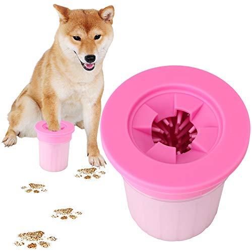 犬 足洗い ブラシカップ ペット足用クリーナー 清浄力3倍アップ 愛犬のお散歩帰りのかんたん足洗い (S-M) 小型/中型犬用
