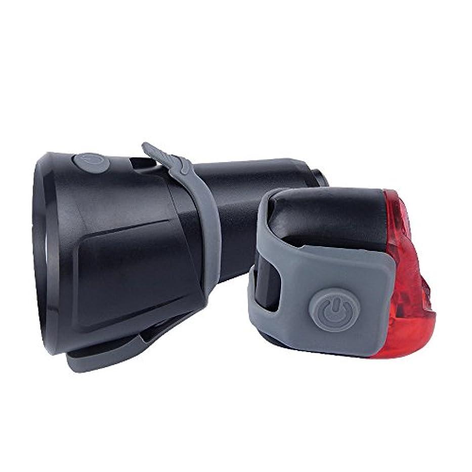 オートメーションライバル大胆不敵TangQI 自転車用ライト LED 強力 高輝度 800ルーメン 1xヘッドライト、1xテールライト セット 1x180650 Ah 3.7V電池 明るい 簡単に取り付け 軽量 高品質 頑丈 耐久性 他の自動車に注意される 自転車用ランプ
