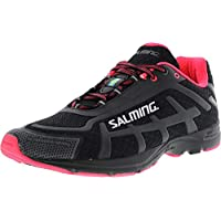 Salming Women's Distance D4 Ankle-High Mesh Running Shoe Black/Diva Pink
