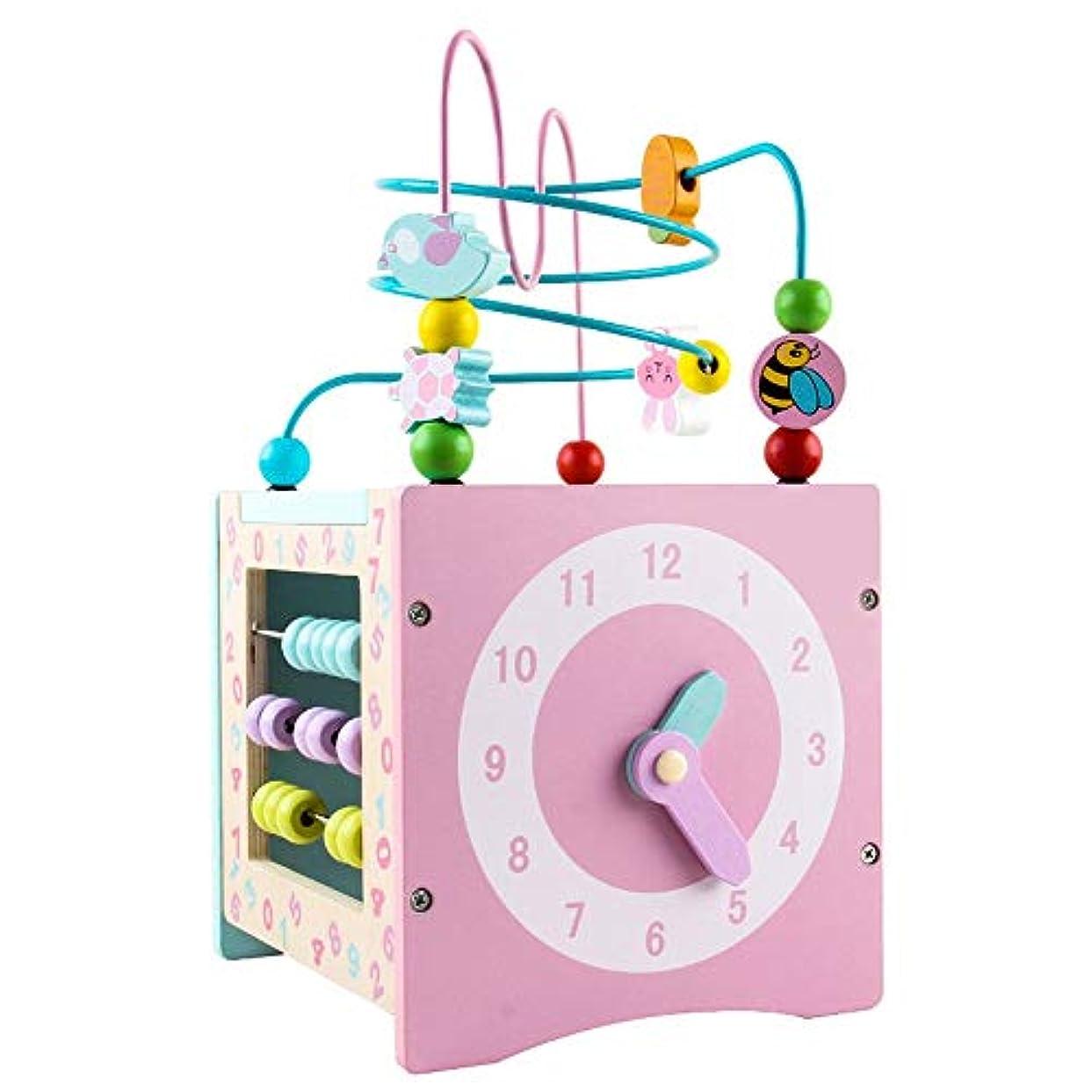 国勢調査ラッカス侵入するビーズコースター ルーピング ビーズ迷路ベビー玩具、Multifuncation教育活動おもちゃ、早期学習活動キューブおもちゃ 子供 知育玩具 (Color : Multi-colored, Size : Free size)