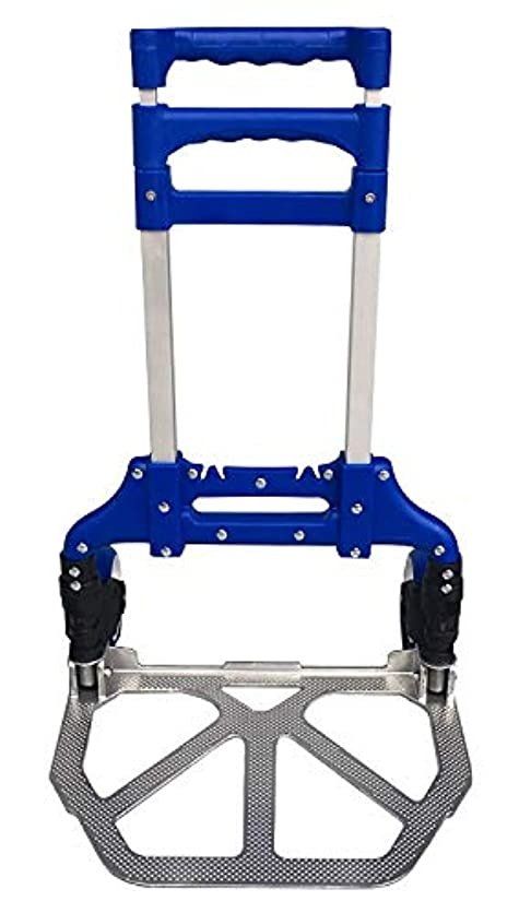 スカリー果てしないメロディーJIASHUO 折り畳みキャリーカート ブルー 折り畳み式 滑り止め付 耐荷重60kg 重量2.98kg 101*38.8*39cm