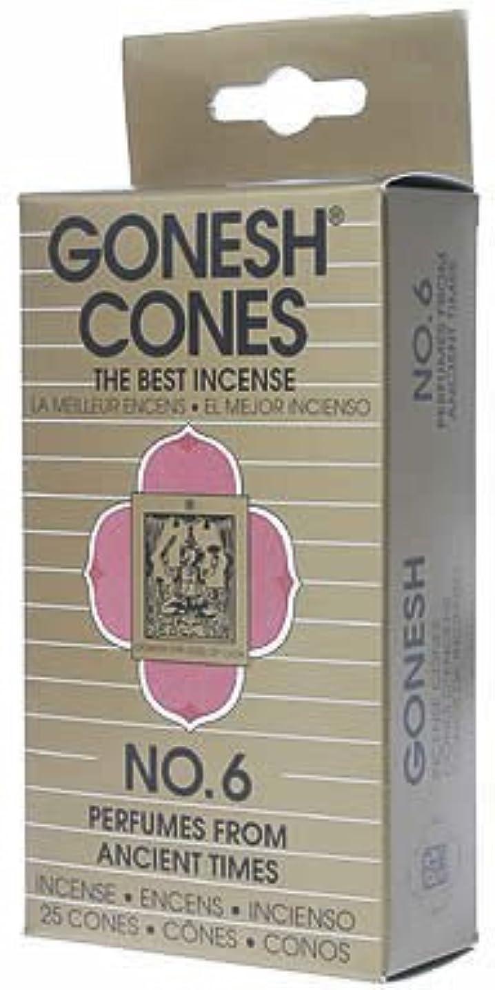 意識散逸マーカーガーネッシュ(GONESH) ナンバー インセンス コーン No.6 25個入(お香)