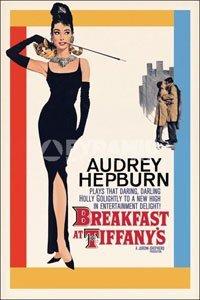 ポスター 610X915mm オードーリーヘプバーン  AUDREY HEPBURN ティファニーで朝食を Breakfast At Tiffany's/イラスト