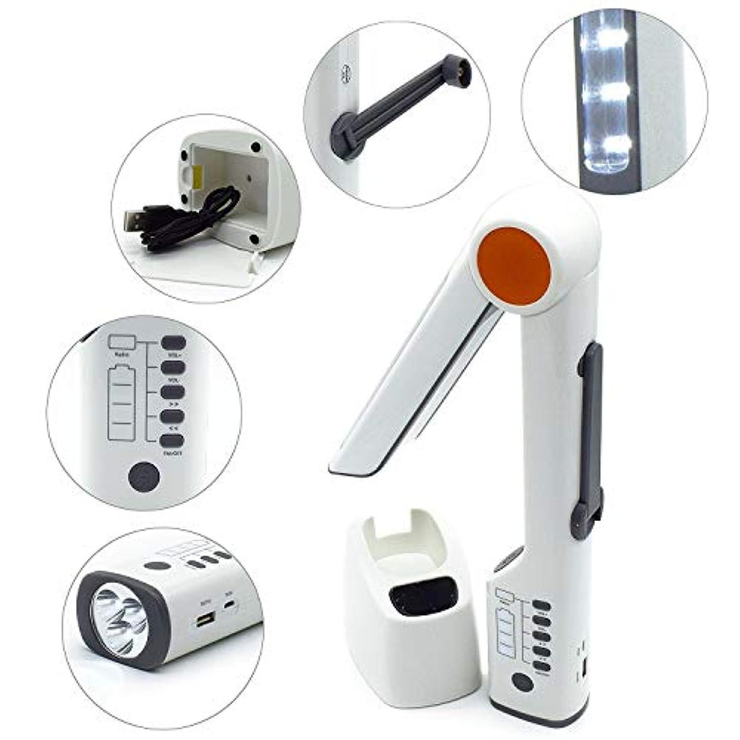 呼び出すヤング慣性INSKO マルチ機能ライト キャンピング ソーラーライト 非常用ライト デスクライト/手回し発電/懐中電灯 緊急時サイレン機能 携帯オート充電可能 防災 キャンプ アウトドア [並行輸入品]