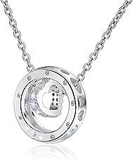 ネックレス·リリィウィメンズネックレス·シルバー925·5A立方ジルコンペンダントネックレス·ウィメンズ·大切な人へのギフト·バレンタインデー·誕生日·記念日·プレゼント·オフィス·銀白色