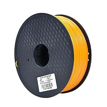 HICTOP 3Dプリンター用 高品質で精密 ABS 樹脂 材料 フィラメント【8色選択可】【1.75mm】【1kg】 (オレンジ)