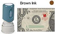 WG ?Lucky bill + URLコレクションスタンプ Xstamper Stamp ブラウン