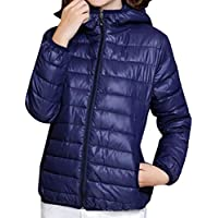 Howme-Women Candy Slim Casual Packable Quilted Jacket with Hood