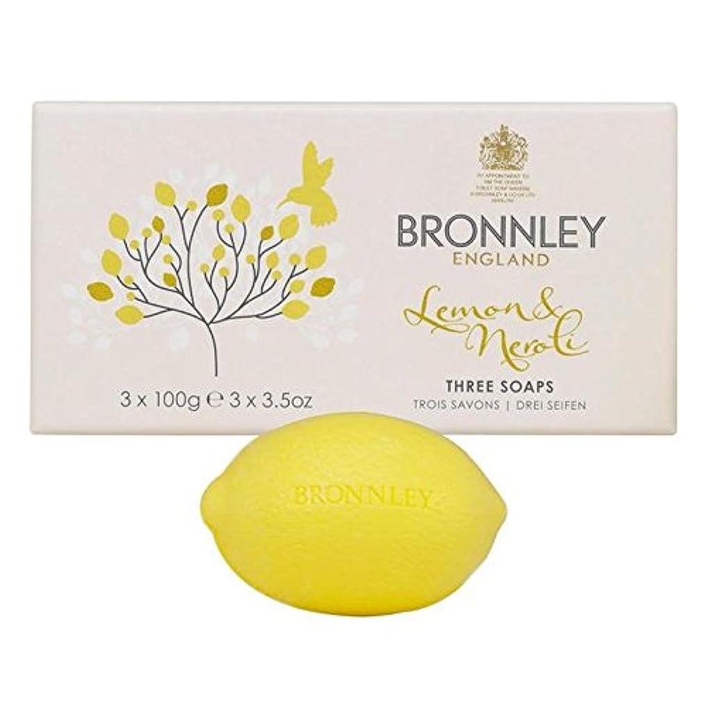 ドット実り多いギャラリーBronnley Lemon & Neroli Soaps 3 x 100g (Pack of 6) - レモン&ネロリ石鹸3×100グラム x6 [並行輸入品]