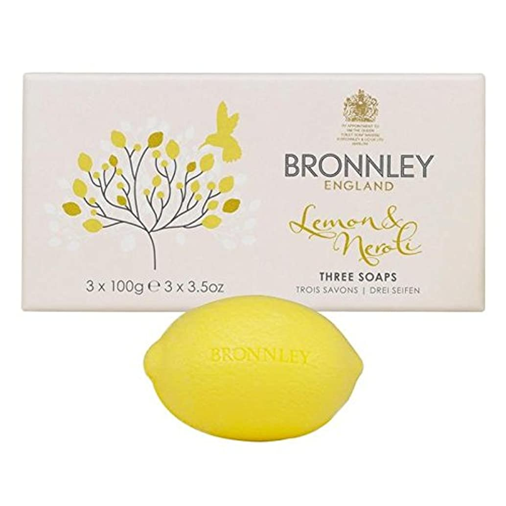 刺激する適応する影響力のあるレモン&ネロリ石鹸3×100グラム x2 - Bronnley Lemon & Neroli Soaps 3 x 100g (Pack of 2) [並行輸入品]