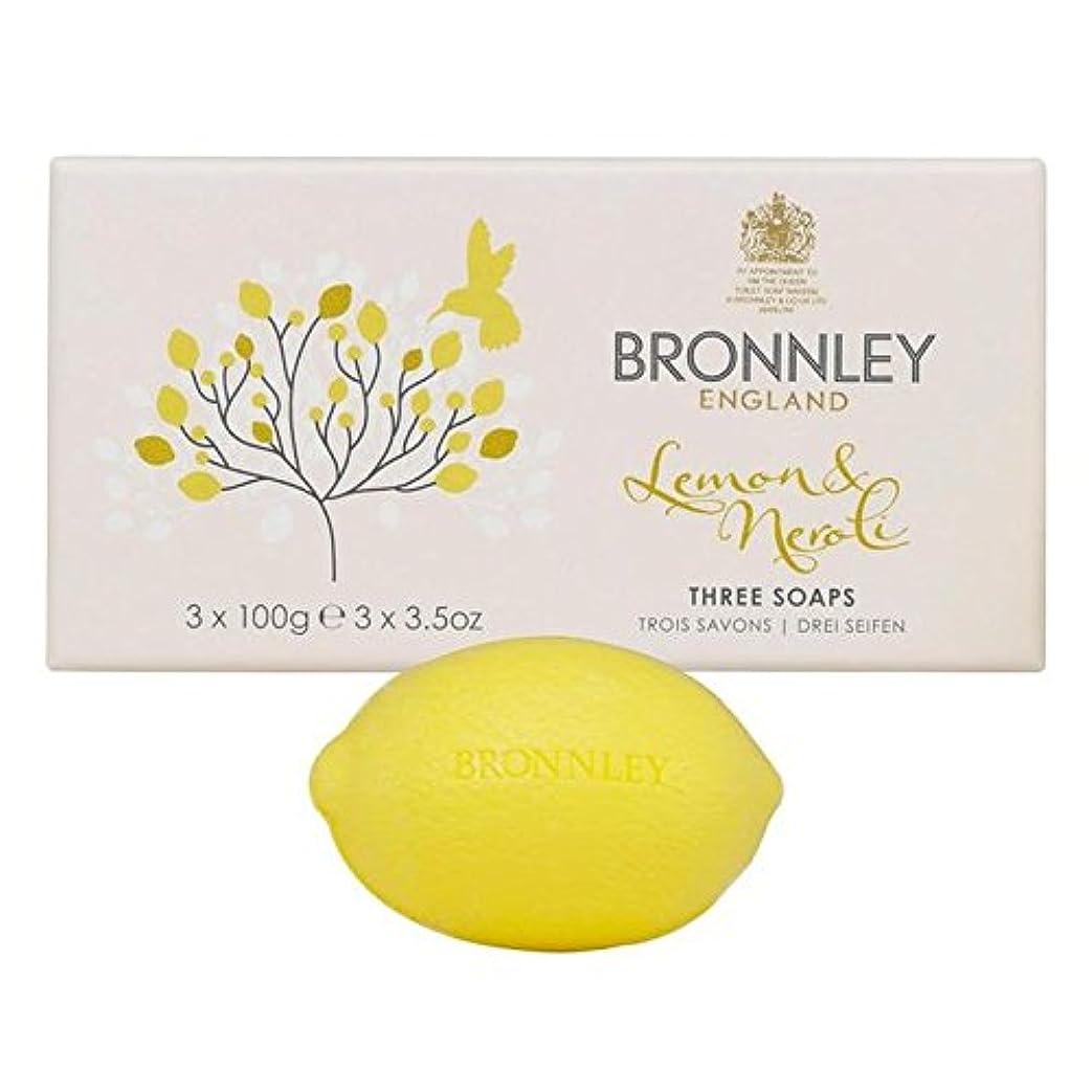ポイントパトロンほめるレモン&ネロリ石鹸3×100グラム x4 - Bronnley Lemon & Neroli Soaps 3 x 100g (Pack of 4) [並行輸入品]