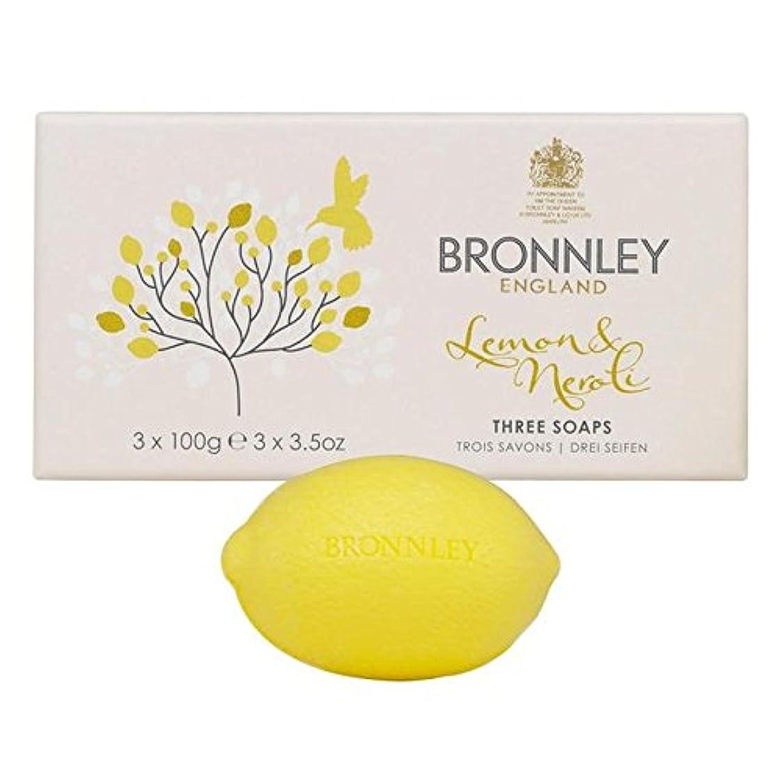 終点じゃない現象Bronnley Lemon & Neroli Soaps 3 x 100g - レモン&ネロリ石鹸3×100グラム [並行輸入品]