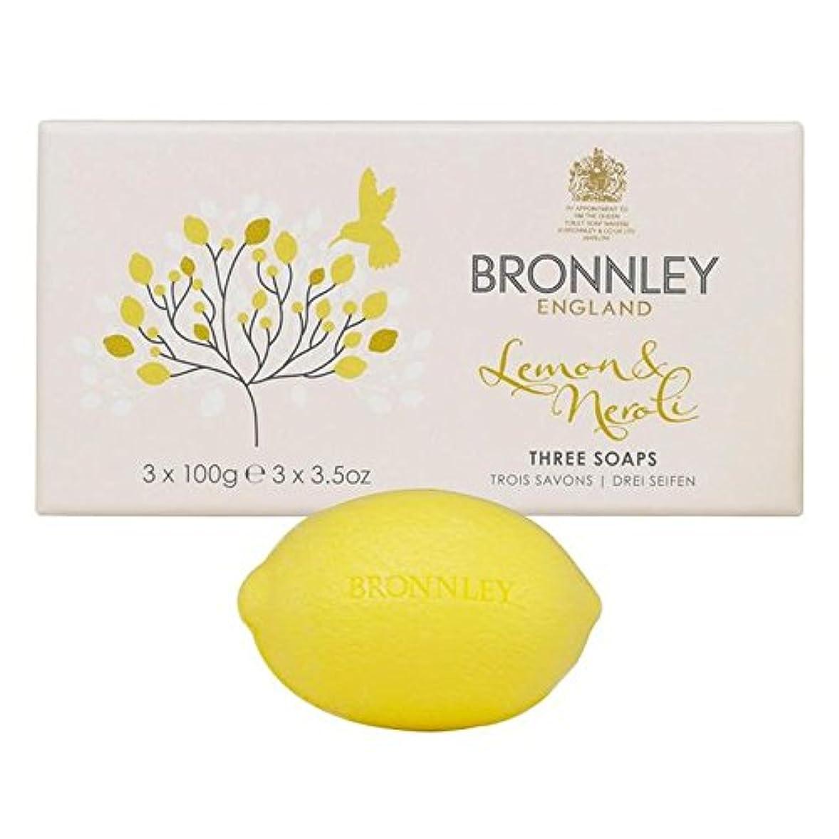 コンドームキウイ博覧会Bronnley Lemon & Neroli Soaps 3 x 100g (Pack of 6) - レモン&ネロリ石鹸3×100グラム x6 [並行輸入品]