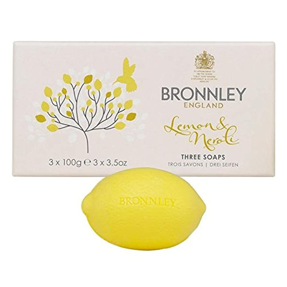 隔離する真珠のようなぬれたBronnley Lemon & Neroli Soaps 3 x 100g - レモン&ネロリ石鹸3×100グラム [並行輸入品]