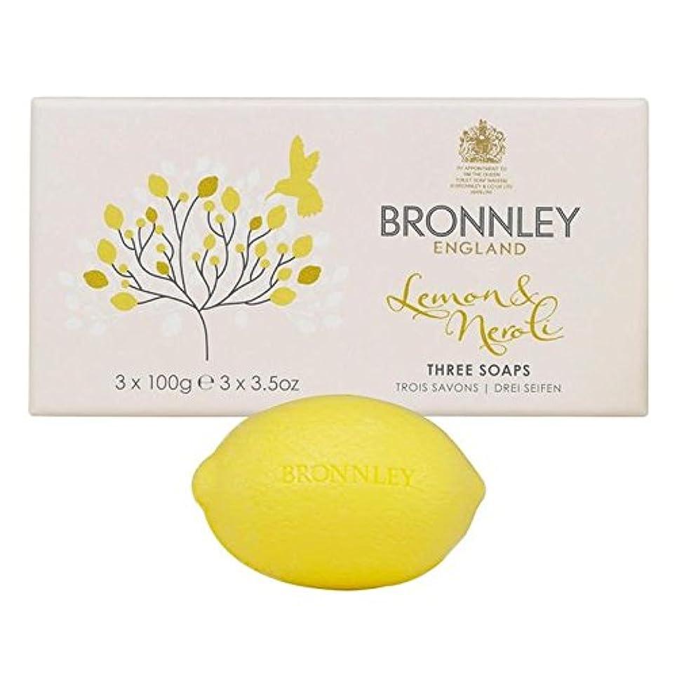 芸術つらい夕食を食べるBronnley Lemon & Neroli Soaps 3 x 100g - レモン&ネロリ石鹸3×100グラム [並行輸入品]
