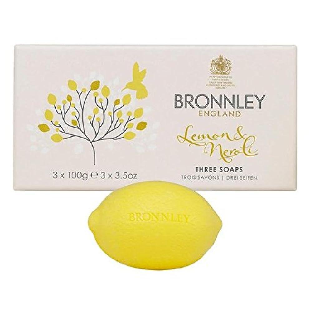 アジテーションフライカイト寺院Bronnley Lemon & Neroli Soaps 3 x 100g (Pack of 6) - レモン&ネロリ石鹸3×100グラム x6 [並行輸入品]