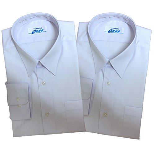 トンボ(TOMBOW) 長袖男子スクールシャツA体 2枚セット ホワイト 形態安定・抗菌防臭加工 TOMBOW13