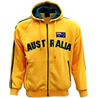 New Adults Australia Day Zip Up Hoodie Jacket w Flag Souvenir Jumper Sports Coat