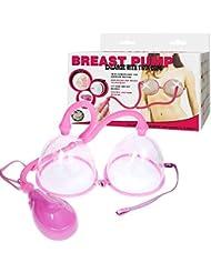 女性の電動乳房ポンプ、電動乳房マッサージ/マッサージカップ、乳房ポンプ、乳房拡大を促進する乳房マッサージ/エンハンサー、ピンク(小、大)