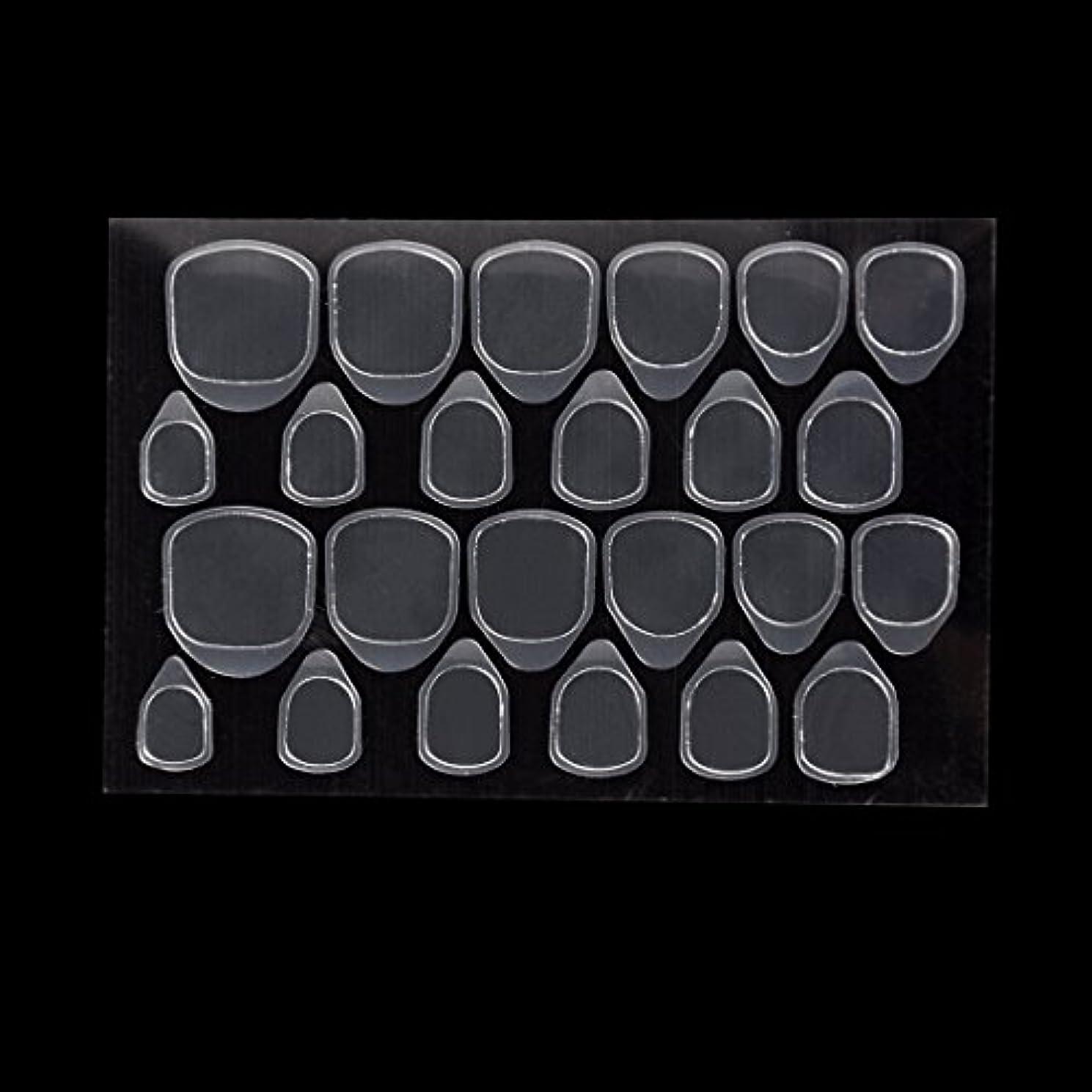 キラウエア山魂ハードBiutee つけ爪用 両面テープ ネイル 推奨超強力両面テープ ネイル両面接着剤 ネイルチップ用粘着グミ 10枚セット