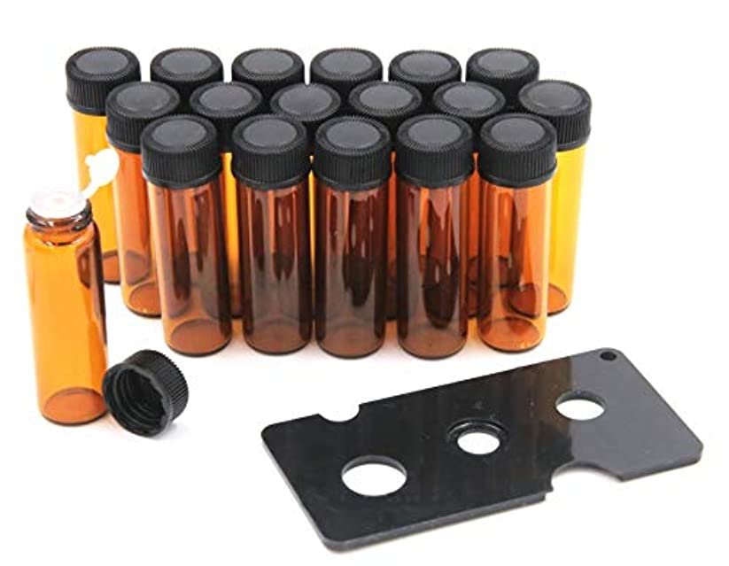 ポテト視聴者町XPdesign アロマ 小分け遮光瓶 アロマオイル 遮光瓶 保存 容器 詰め替え 香水 ボトル 耐熱ガラス (5ml 18本セット)