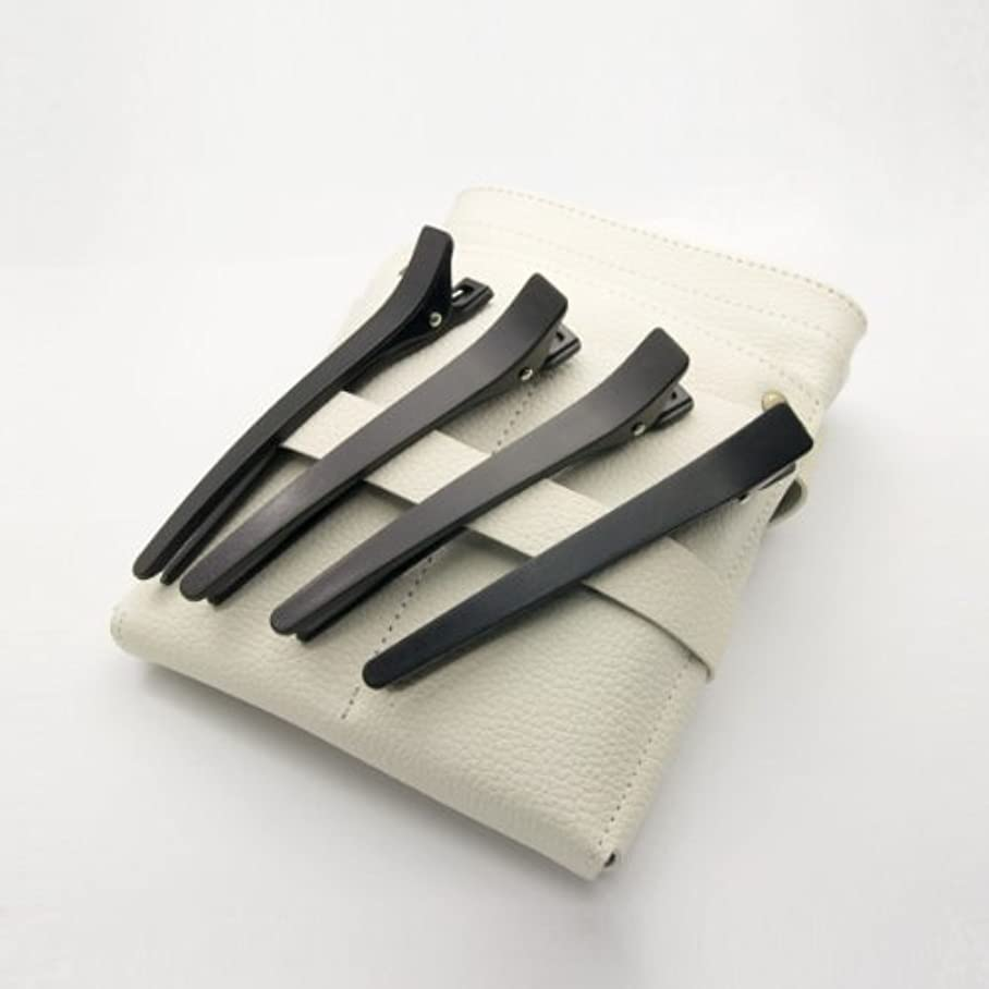 効能ある野ウサギびっくりしたプロ用 ダッカール マットブラック 美容 クリップピン 黒 ヘアクリップ 美容小物