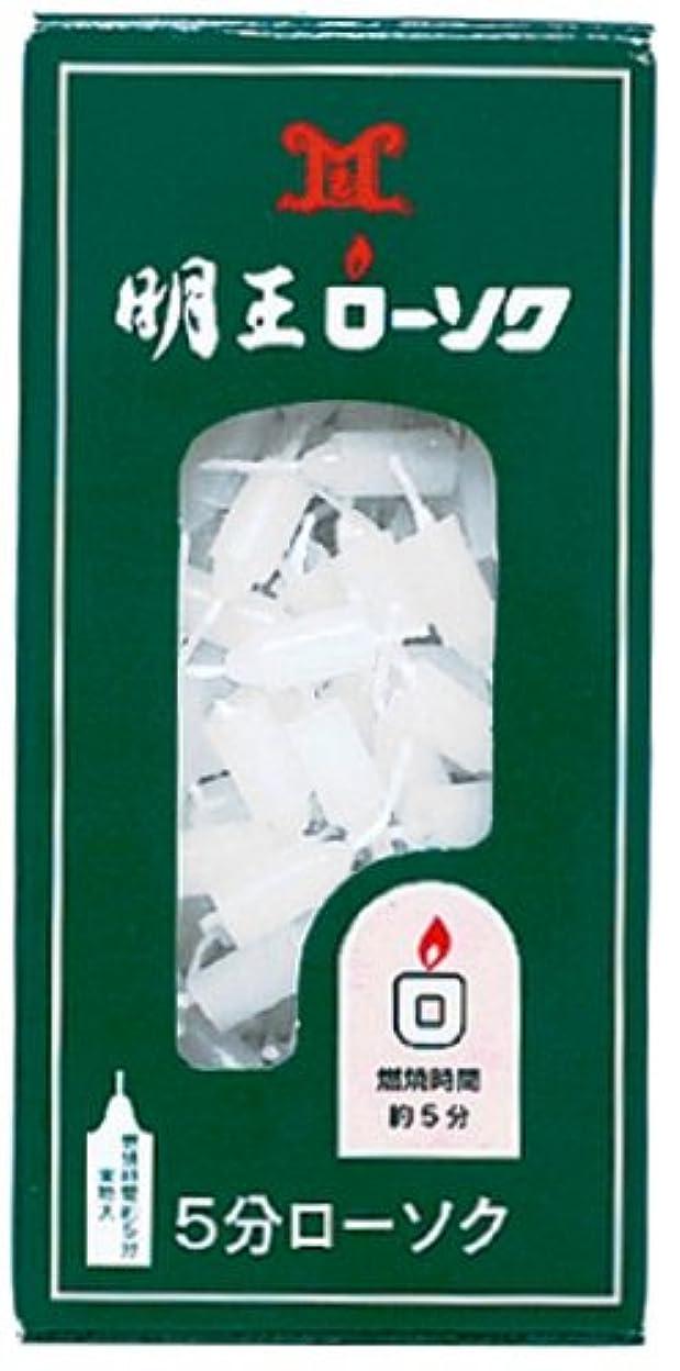 海洋の乳剤技術マルエス 明王ローソク 5分ローソク 90g