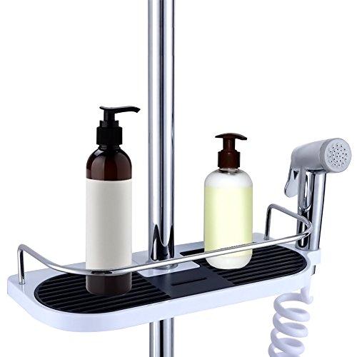 Ourine 浴室収納ホルダー 突っ張り棚 バス収納ラック シャンプーラック シャワーシェルフ 収納ラック 小物...