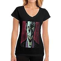 レディーズVネック半袖Tシャツ Joker ネックレスペンダントを着用するのに適したVネック形状、ガールズ、レディーズ 半袖Tシャツ