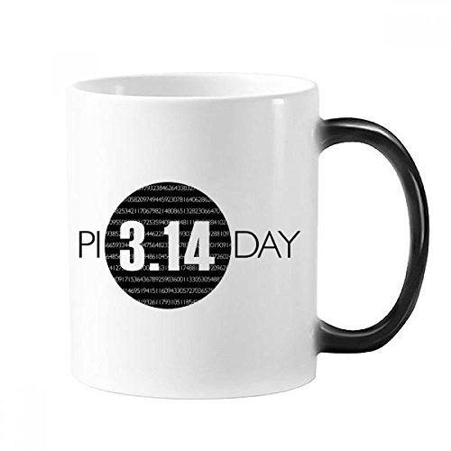 3 . 14πの日記念日 熱に敏感な色を変えてマグカップギフトミルクコーヒーを扱う350 mlでモーフィング