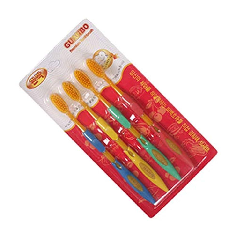 フェードアウトリス感謝祭TOPBATHY 子供および大人のための二重先を細くされた剛毛が付いている4本の柔らかい歯ブラシの小さいヘッド歯ブラシ