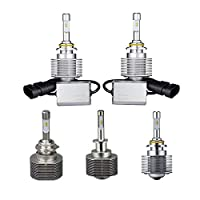 DADANGSH ペアH4 H7 H11 9005 9006 20W 2400LM 6000K LEDヘッドライトフロントランプ電球ホワイト LEDカーライト (Color : H11)