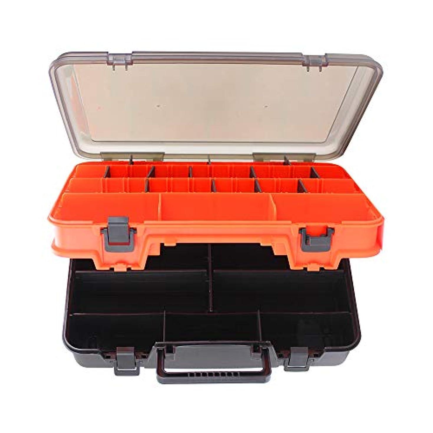 つかの間犯罪時計回りCocobanana 大容量軽量釣り箱屋外釣り道具箱ポータブル釣り箱両面肥厚