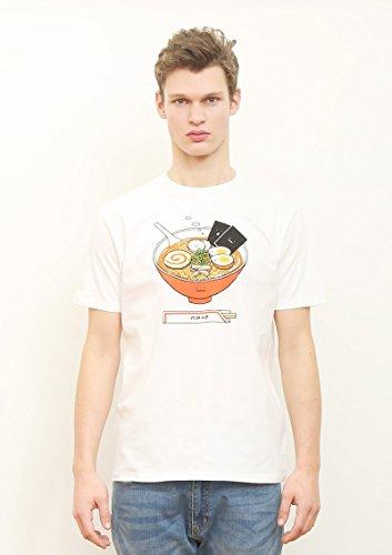 (グラニフ)graniph ベーシックTシャツ / ラーメンクン ( ホワイト ) L