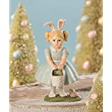 Bethany Lowe Pounting Easter Girl with Bunny Ears Figurine TD9009