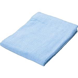 タオルケット 接触涼感 吸湿性 レーヨン素材 洗える 心地よいサラふわ触感 幅140×奥行190cm シングル ライトブルー