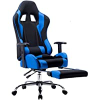 ZHIJIA ゲーミングチェア リクライニングチェア オットマン付き 無段階 約170度 リクライニング バケットシート 長時間座るPC作業向け椅子 耐荷重100kg L-2
